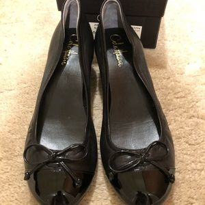 Cole Haan Air Tali Lace Black Wedge - Size 7
